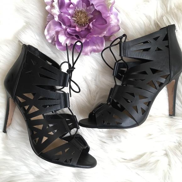 1bf9b61107 Jessica Simpson Shoes - Jessica Simpson Black Strappy Sandal Emelia Heels